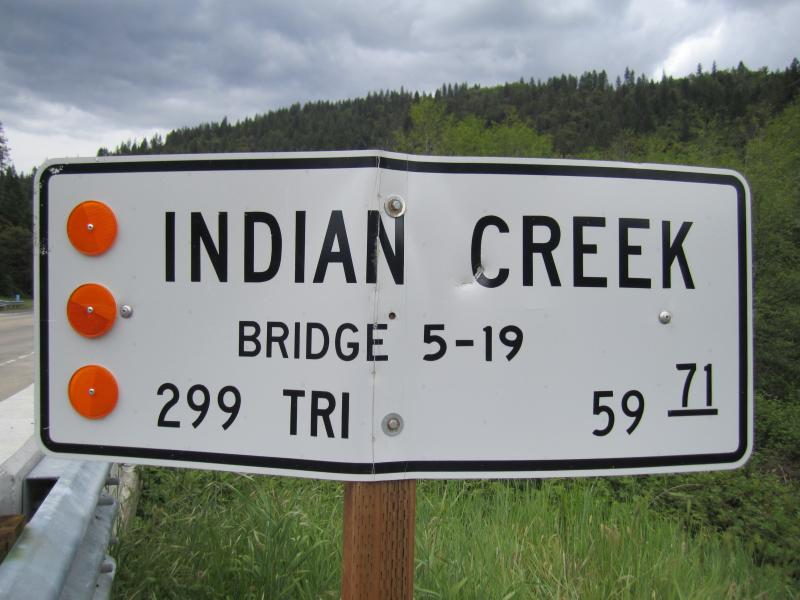 Indian Creek Sign